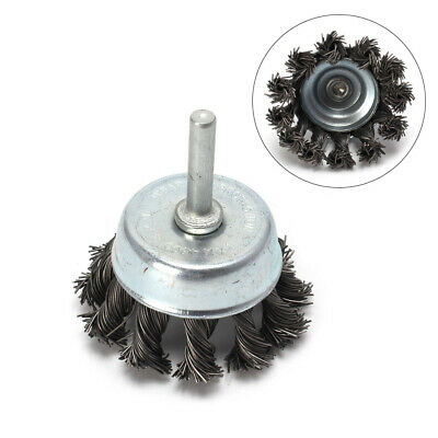 2Pcs 65mm Stainless Steel Knot Wire Wheel Cup Brush For Angle Grinders 1/4 Shank