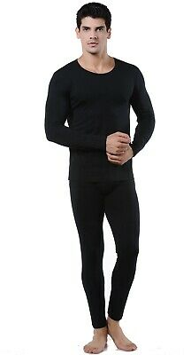 9M Men's Ultra Soft Fleece Lined Thermal Base Layer Top & Bottom Underwear Set