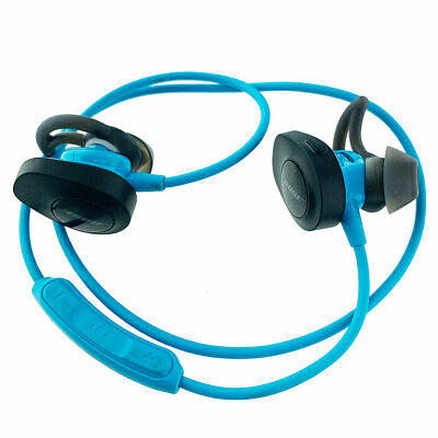 Bose SoundSport Bluetooth Wireless Headphones Neckband Used Blue