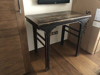 Original Old Chinese Elm Wood Console Table 104x56x88