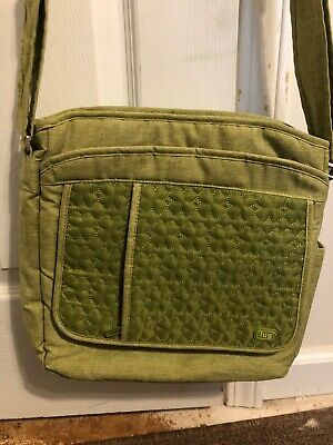 Nice Lug Carry On Puddle Jumper Quilted Green Overnight Bag Luggage Diaper