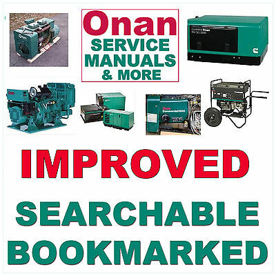 Onan BFA GenSet REPAIR MANUAL & PARTS Catalogs & Operators/Owner -5- MANUALS CD