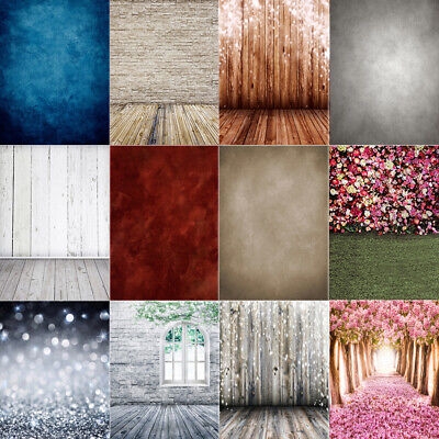 5X7FT Vinyl Studio Wooden Floor Wall Photography Backdrop Photo Background Props