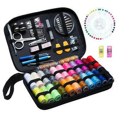 Sewing Kit DIY Premium Sewing Supplies  x130 Zipper Portable Case Set