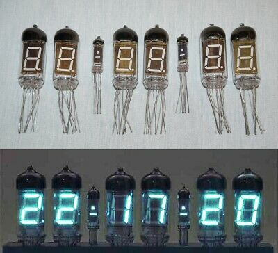 One Set Russian VFD tubes for NIXIE for clock 6 x IV-11 + 2 x IV-1 , USSR