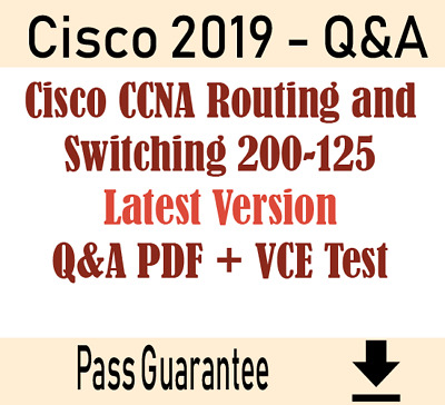 CCNA Routing and Switching 200-125 Exam Dump Q&A PDF + VCE Test Simulator
