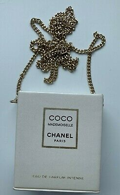 CHANEL Bag With Chain COCO MADEMOISELLE WHITE rare VIP GIFT