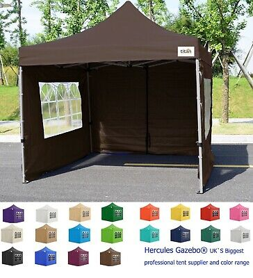 New Titan® Hex 40 Heavy Duty Pop Up Gazebo Strongest Frame On Ebay Coffee 3 X 3
