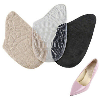 1Pair Silicone Gel Heel Cushion Protector Foot Care Shoe Insert Pad  insole G$