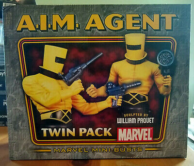 Bowen Aim A.i.m. Agent Twin Pack Busts - #966/1500 - Sealed - Free Priority Mail