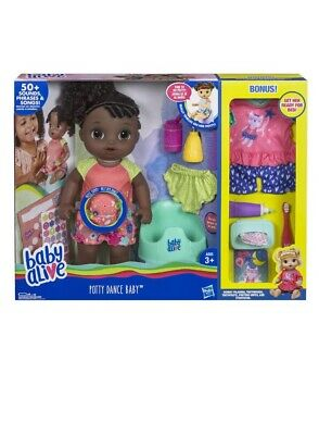 *BRAND NEW IN BOX!* Baby Alive EXCLUSIVE Potty Dance Gift Set (Black Curly Hair)