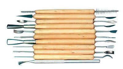 Jack Richeson Finishing Touch Clay Clean-Up Tool Set, Set of 11