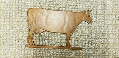 """Vintage Cow Wall Hanging Wood Primative 19 X 12"""""""