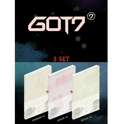 GOT7 [PRESENT : YOU&ME] 3rd Repackage Album 3 SET (YOU&ME+Miracle+Forever) K-POP