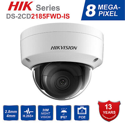 HIKVISION 6MP DS-2CD2163G0-IS Rps 2142FWD-IS Audio SECURITY DOME IP CAMERA 2.8MM