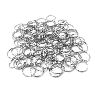 10mm Dog Tag Rings Split Key Ring Stainless Steel Round Ring For Pet Tag Collar