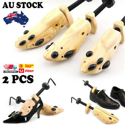 2-Way Wooden Shoes Stretcher Expander Shoe Tree Unisex Bunion Plugs Adjustable