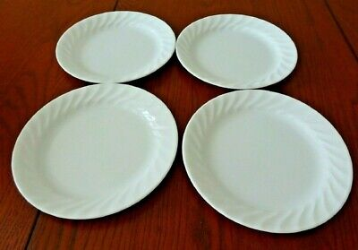 "Corelle Enhancements White (4) 7 1/4"" Salad Plates Corning #2-F"