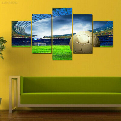 281C Fashion Canvas Print Picture Football Field Pattern Oil Painting Canvas