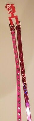 FADED GLORY 2 For 1 Girls Belts Small / Medum Pink Butterfly