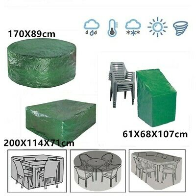 Large Heavy Duty Weatherproof Outdoor Garden Table Chairs Patio Furniture Cover