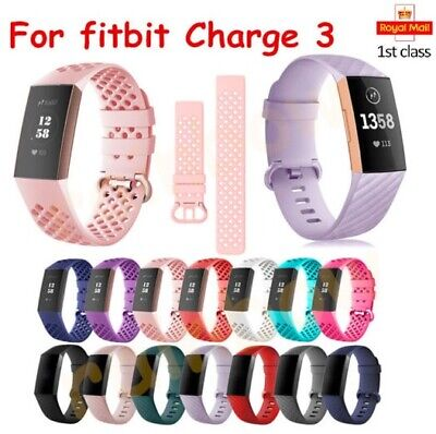 For Fitbit Charge 3 Breathable Bracelet Strap Replacement Watch Band Wrist Strap