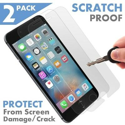 2 Pack GENUINE NUGLAS Premium Tempered Glass Screen Protector For Apple iPhone 7