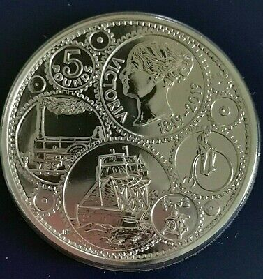 2019 Five Pound Coin £5 200th Anniversary Queen Victoria's birth BU Uncirculated