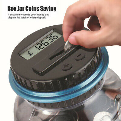 Digital Display Piggy Bank Coin Saving Counter LCD Automatic Counting Money Box