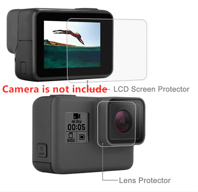 PULUZ Lens HD Screen Protector+LCD Display Tempered Glass Film for GoPro HERO 7