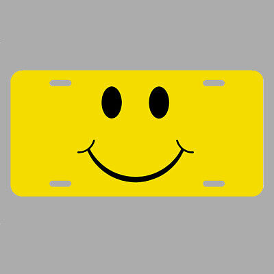 Smiley Face License Plate tag car METAL have a good day LCT011