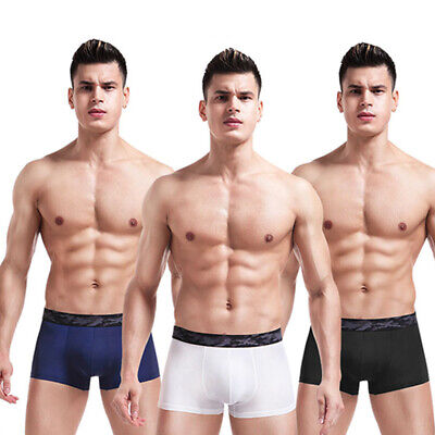 Mens Briefs Ice Silk Underwear Boxer Shorts Breathable Sexy Trunks Knickers Soft