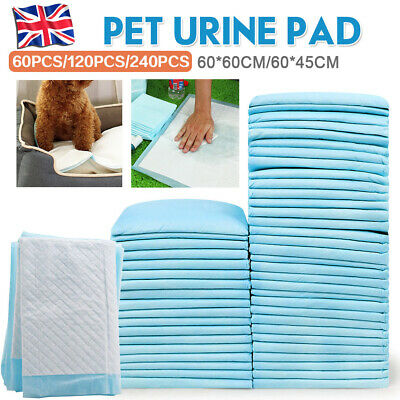 Puppy Pads Dog Pet Toilet House Training Wee Potty Pee Mats Cat Poo 60X45/60 Pad