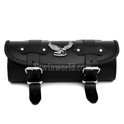 KeP) Kawasaki VN800 VN900 VN1500 VN1600 vn2000 Black Leather Pouch Tool Roll Bag