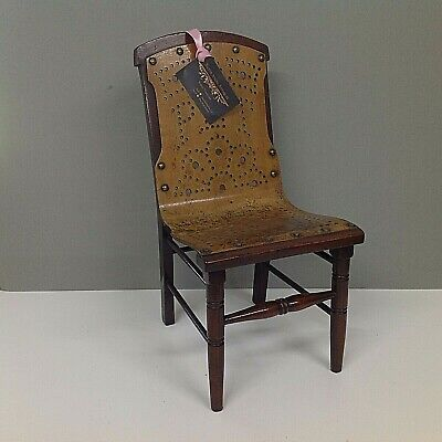 Edwardian Child's or Doll's Miniature Chair c.1900 Beautiful patina