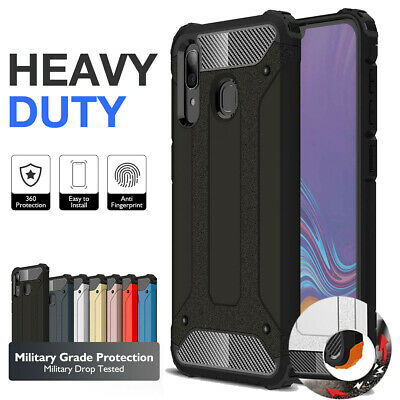 Armor Case for Samsung Galaxy A20 A30 A50 A8 Plus Cover Anti-scratch Dual Layer