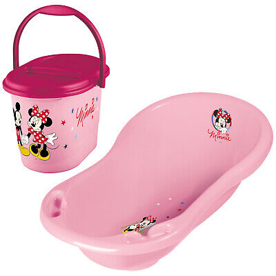 Keeeper 2-teiliges Badeset MINNIE MOUSE Badewanne mit Windeleimer pink TOP