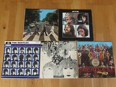 THE BEATLES VINYL COLLECTION x 5 1st Press REVOLVER, SGT PEPPERS, ABBEY ROAD etc