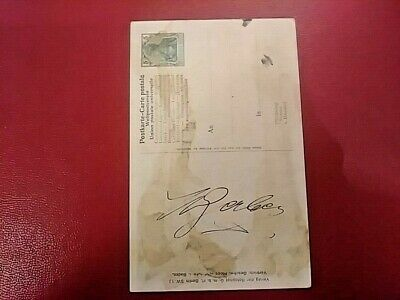 Frederick I 1826-1907 Grand Duke of Baden German Signed Post Card Autograph Auto