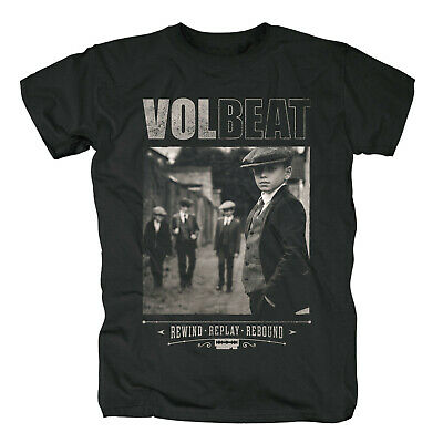 Volbeat Rewind Replay Rebound Official Merch T-Shirt S/M/L/XL/2XL NEU