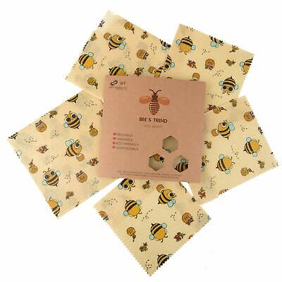 Bee's Trend Set of 6 Beeswax Wraps | All Natural Food Storage | Zero Waste