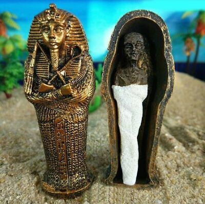 Miniature Resin Ancient Egyptian Pharaoh Coffin Mummy Model Figurine Statue ...