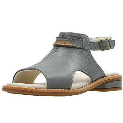 Clarks Girls Darcy Lily Grey Leather Sandals Uk Size 2 F
