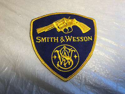 """Vintage SMITH  AND WESSON S/&W  Embroidered Iron-On  Patch 3x2/"""""""