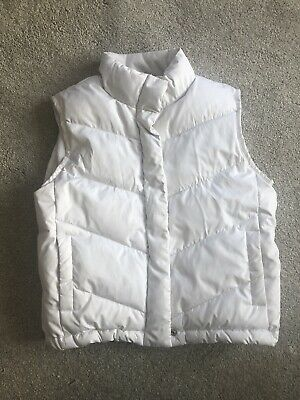 Girls White Puff Gilet From Gap Age 12