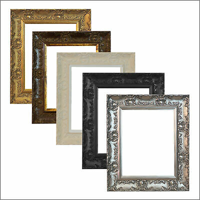WIDE Ornate Shabby Chic Antique swept Picture photo frame Gold SILVER MUSE