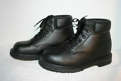 Men's Black Leather Electric Hazard Safety Boot 8M NM COMPOSITE TOE