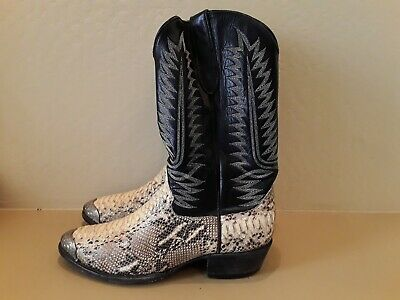 d7a994a1ff6 COWTOWN MEN'S EXOTIC Rattlesnake Square Toe Western Boots Q715 ...