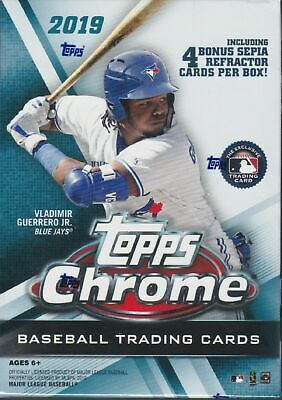 2019 Topps Chrome Baseball sealed blaster box w Sepia Pack
