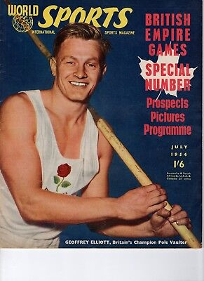 World Sports International Magazine July 1954 British Empire Games